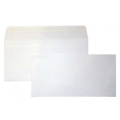 Image for CUMBERLAND DL ENVELOPES BANKER PLAINFACE STRIP SEAL 90GSM 110 X 220MM WHITE BOX 500 from Axsel Office National