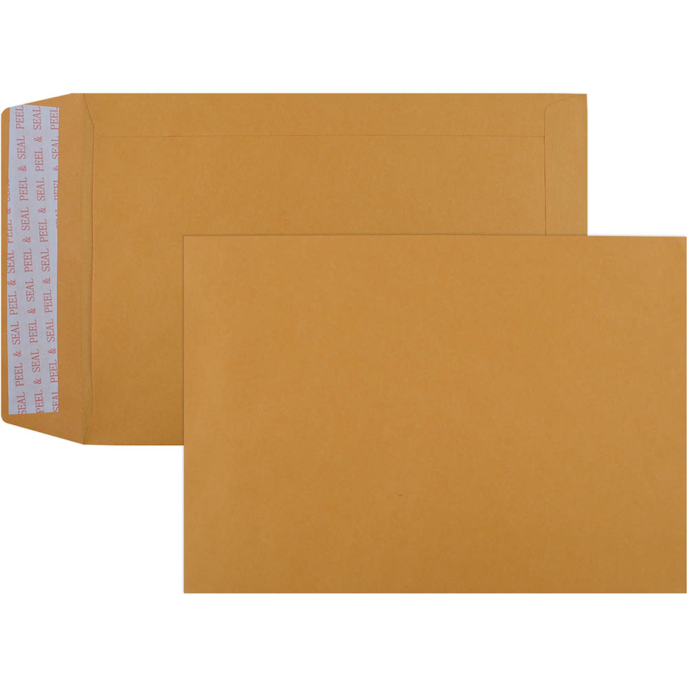 Image for CUMBERLAND C5 ENVELOPES POCKET PLAINFACE STRIP SEAL 85GSM 162 X 229MM GOLD BOX 500 from Mackay Business Machines (MBM)