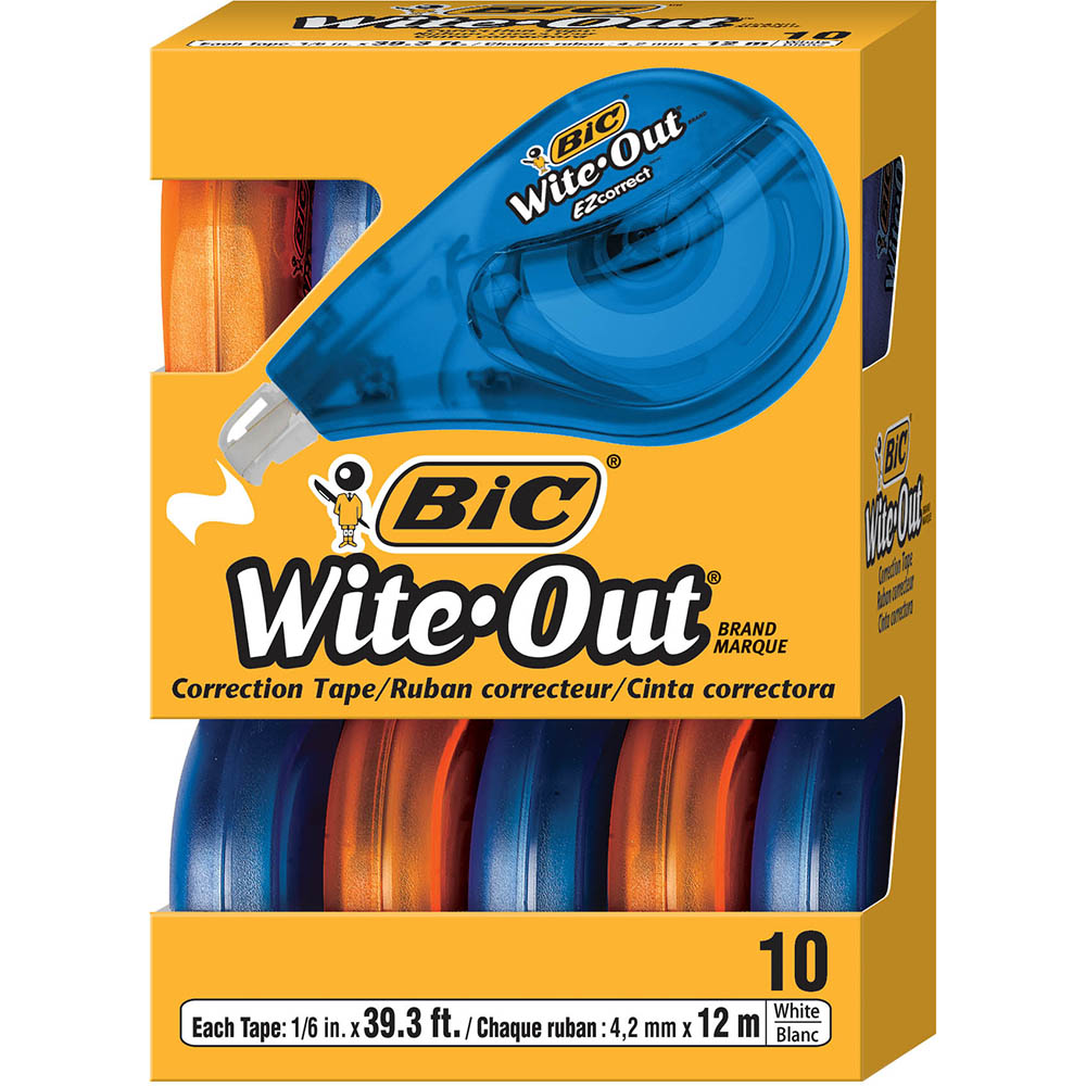 Image for BIC WITE-OUT EZ CORRECTION TAPE BOX 10 from Holiday Coast Office