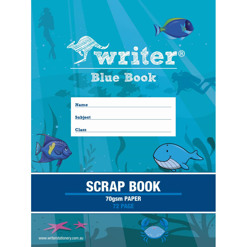 Image for WRITER SCRAPBOOK 70GSM 72 PAGE 330 X 240MM BLUE from Wetherill Park / Smithfield Office National