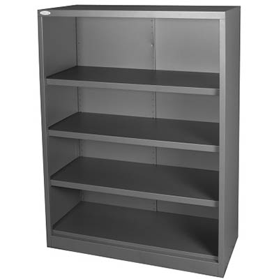 Image for STEELCO OPEN BOOKCASE 3 SHELF 1200 X 900 X 400MM GRAPHITE RIPPLE from Office National Perth CBD