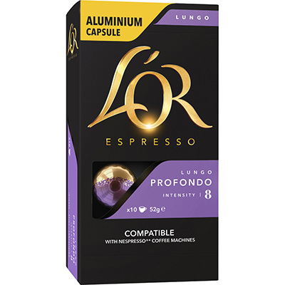 Image for LOR ESPRESSO COFFEE PODS LUNGO PROFONDO BOX 10 from Wetherill Park / Smithfield Office National