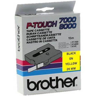 Image for BROTHER TX-651 LAMINATED LABELLING TAPE 24MM BLACK ON YELLOW from Express Office National