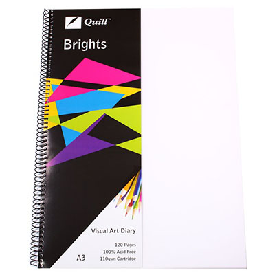 Image for QUILL VISUAL ART DIARY 110GSM 120 PAGE A3 PP FROST from Wetherill Park / Smithfield Office National