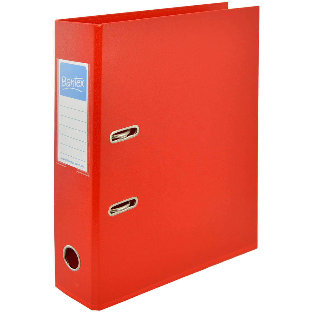 Image for BANTEX LEVER ARCH FILE 70MM A4 RED from Office National Perth CBD