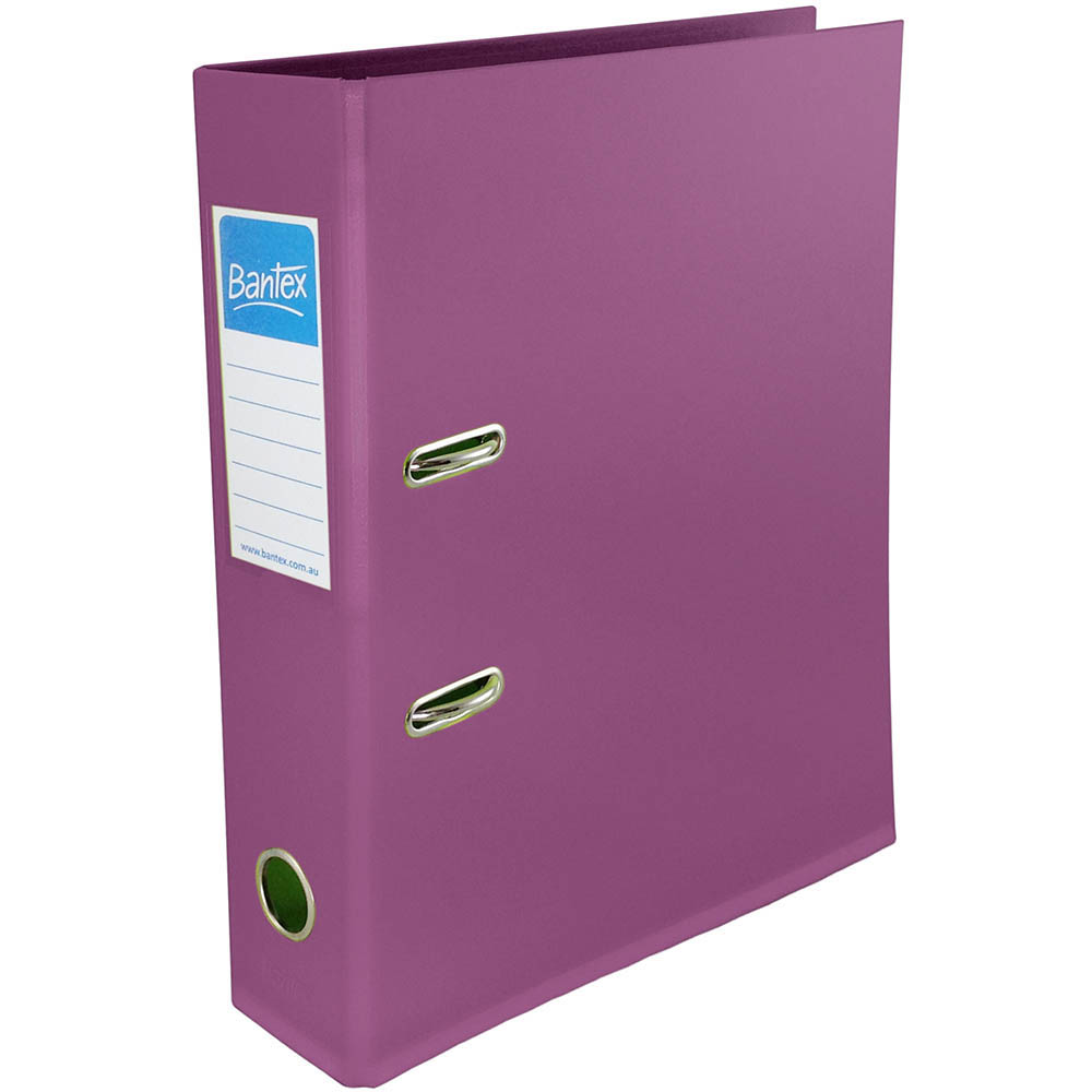 Image for BANTEX FRUIT LEVER ARCH FILE 70MM A4 PLUM from Office National Perth CBD