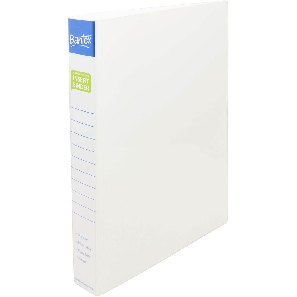 Image for BANTEX INSERT POLY BINDER 4D 25MM A4 WHITE from Office National Perth CBD