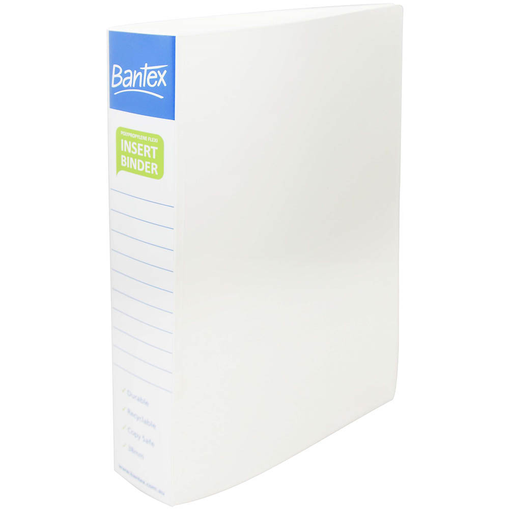 Image for BANTEX INSERT POLY BINDER 2D 38MM A4 WHITE from Office National Perth CBD