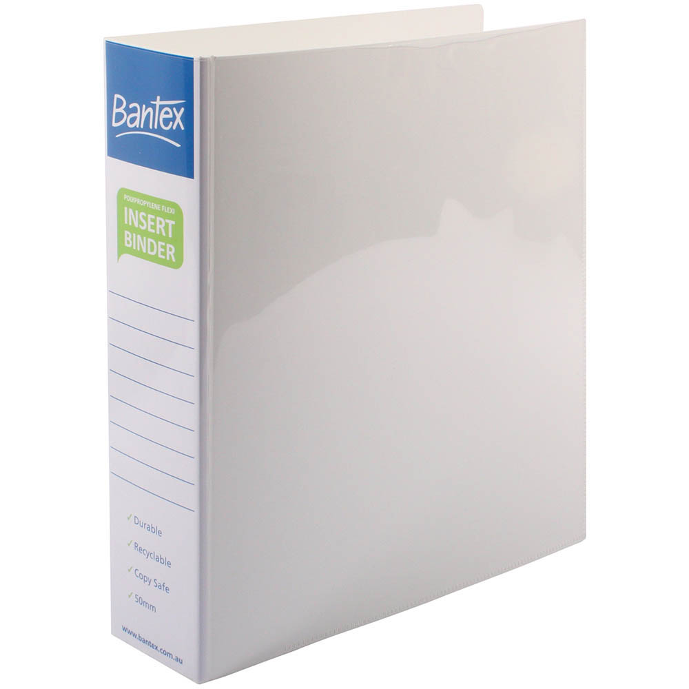Image for BANTEX INSERT POLY BINDER 3D 50MM A4 WHITE from Office National Perth CBD