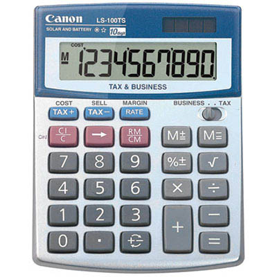 Image for CANON DESKTOP CALCULATOR LS100TS 10 DIGIT from Pirie Office National