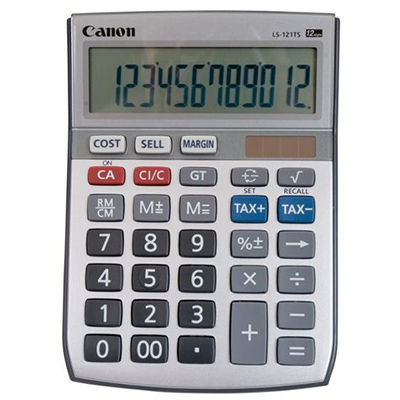 Image for CANON LS121TS CALCULATOR DESKTOP TAX 12 DIGIT from Pirie Office National