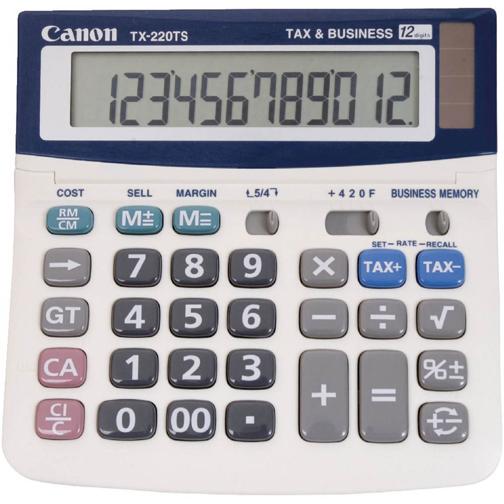 Image for CANON TX220TS 12 DIGIT DUAL POWER TAX BUSINESS FUNCTION ADJUSTABLE DISPLAY from Office National Capalaba