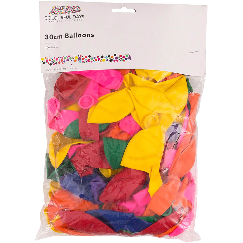 Image for CUMBERLAND BALLOONS 300MM ASSORTED PACK 100 from Pirie Office National