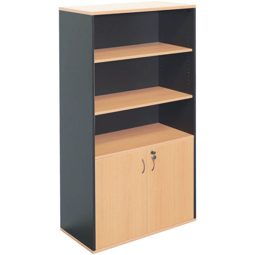 Image for RAPID WORKER WALL UNIT LOCKABLE 1800 X 900 X 450MM BEECH/IRONSTONE from Wetherill Park / Smithfield Office National