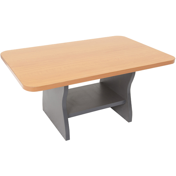 Image for RAPID WORKER COFFEE TABLE 900 X 600MM BEECH/IRONSTONE from Axsel Office National