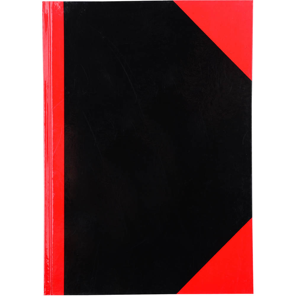 Image for BLACK AND RED NOTEBOOK CASEBOUND RULED GLOSS COVER 100 LEAF A5 from Holiday Coast Office