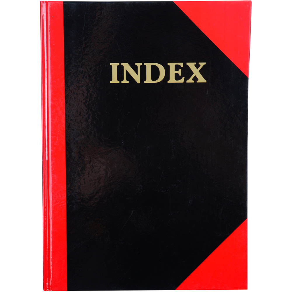 Image for BLACK AND RED NOTEBOOK CASEBOUND RULED A-Z INDEX GLOSS COVER 100 LEAF A4 from Paul John Office National