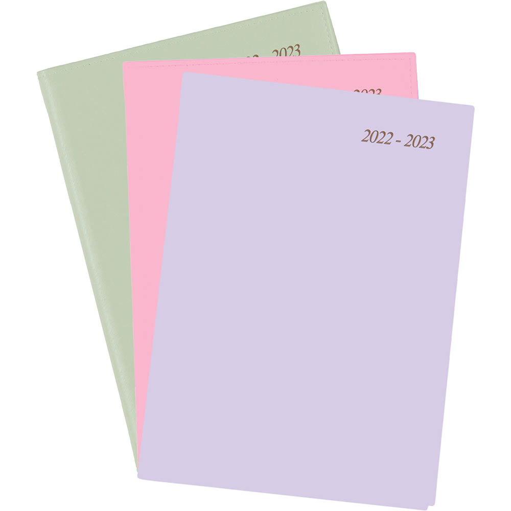 Image for CUMBERLAND SOHO 2020-2021 FINANCIAL YEAR DIARY WEEK TO VIEW 1 HOUR A4 ASSORTED from Axsel Office National