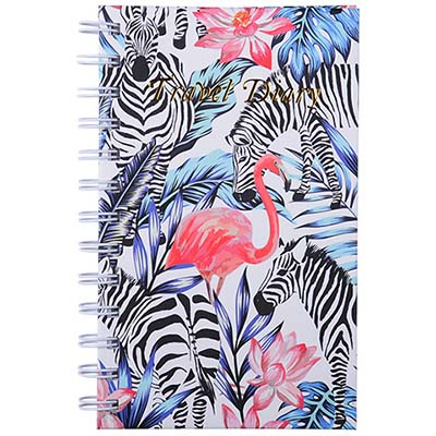 Image for CUMBERLAND FLAMINGO / ZEBRA TRAVEL DIARY SPIRAL 170 X 105MM 72 LEAF from Mackay Business Machines (MBM)