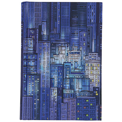 Image for CUMBERLAND BLUE CITYSCAPE NOTEBOOK CASEBOUND 100 LEAF A6 from Office National Perth CBD
