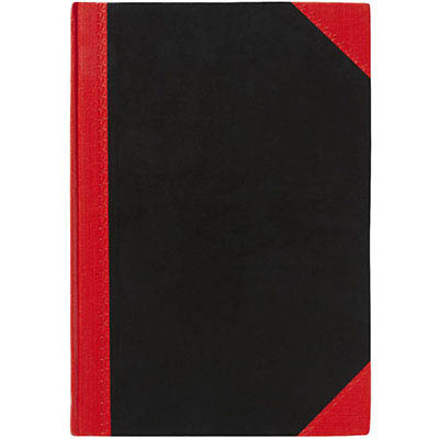 Image for BLACK AND RED NOTEBOOK CASEBOUND RULED 100 LEAF A5 from Office National Perth CBD