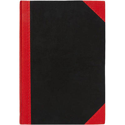 Image for BLACK AND RED NOTEBOOK CASEBOUND RULED 200 LEAF A4 from Office National Perth CBD
