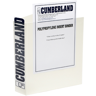 Image for CUMBERLAND EARTHCARE INSERT RING BINDER 3D 50MM A4 WHITE from Paul John Office National