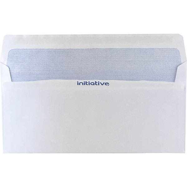 Image for INITIATIVE DL ENVELOPES SECRETIVE WALLET PLAINFACE SELF SEAL 80GSM 110 X 220MM WHITE BOX 500 from Wetherill Park / Smithfield Office National