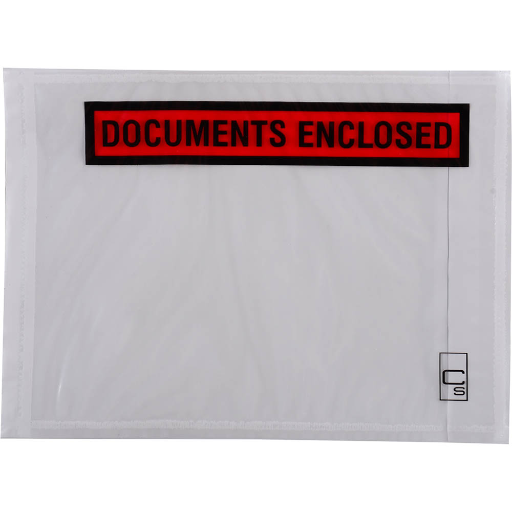 Image for CUMBERLAND PACKAGING ENVELOPE DOCUMENTS ENCLOSED 155 X 115MM WHITE BOX 1000 from The Paper Bahn Office National