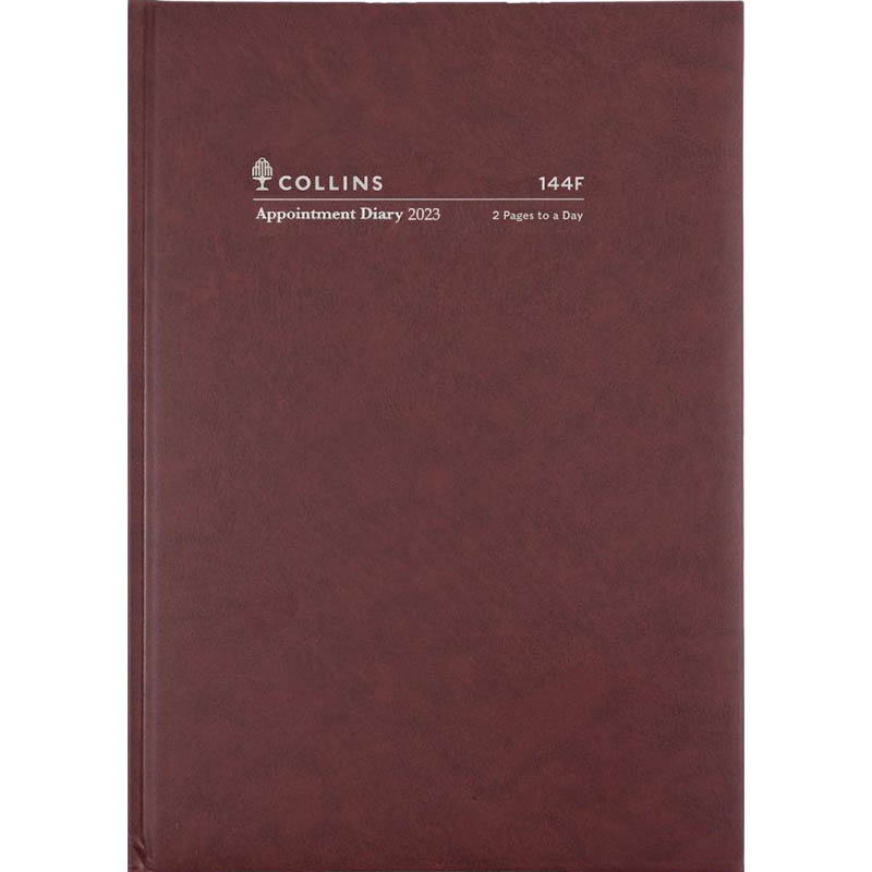 Image for COLLINS 2021 APPOINTMENT DIARY 2 PAGES TO DAY 15 MINUTE A4 BURGUNDY from Paul John Office National