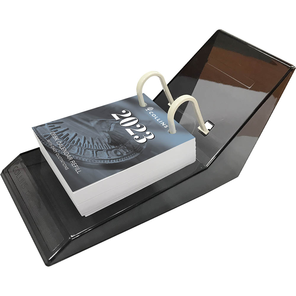Image for COLLINS 2021 DESK CALENDAR REFILL TOP PUNCH COMPLETE WITH ACRYLIC STAND from Paul John Office National