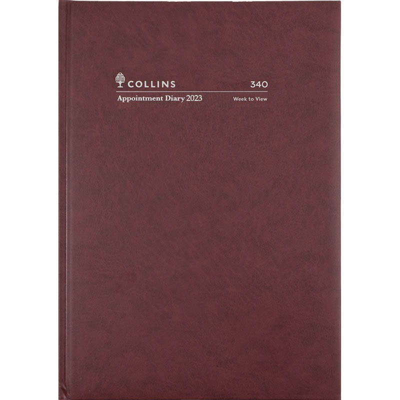 Image for COLLINS 2021 APPOINTMENT DIARY WEEK TO VIEW 1 HOUR A4 BURGUNDY from Paul John Office National