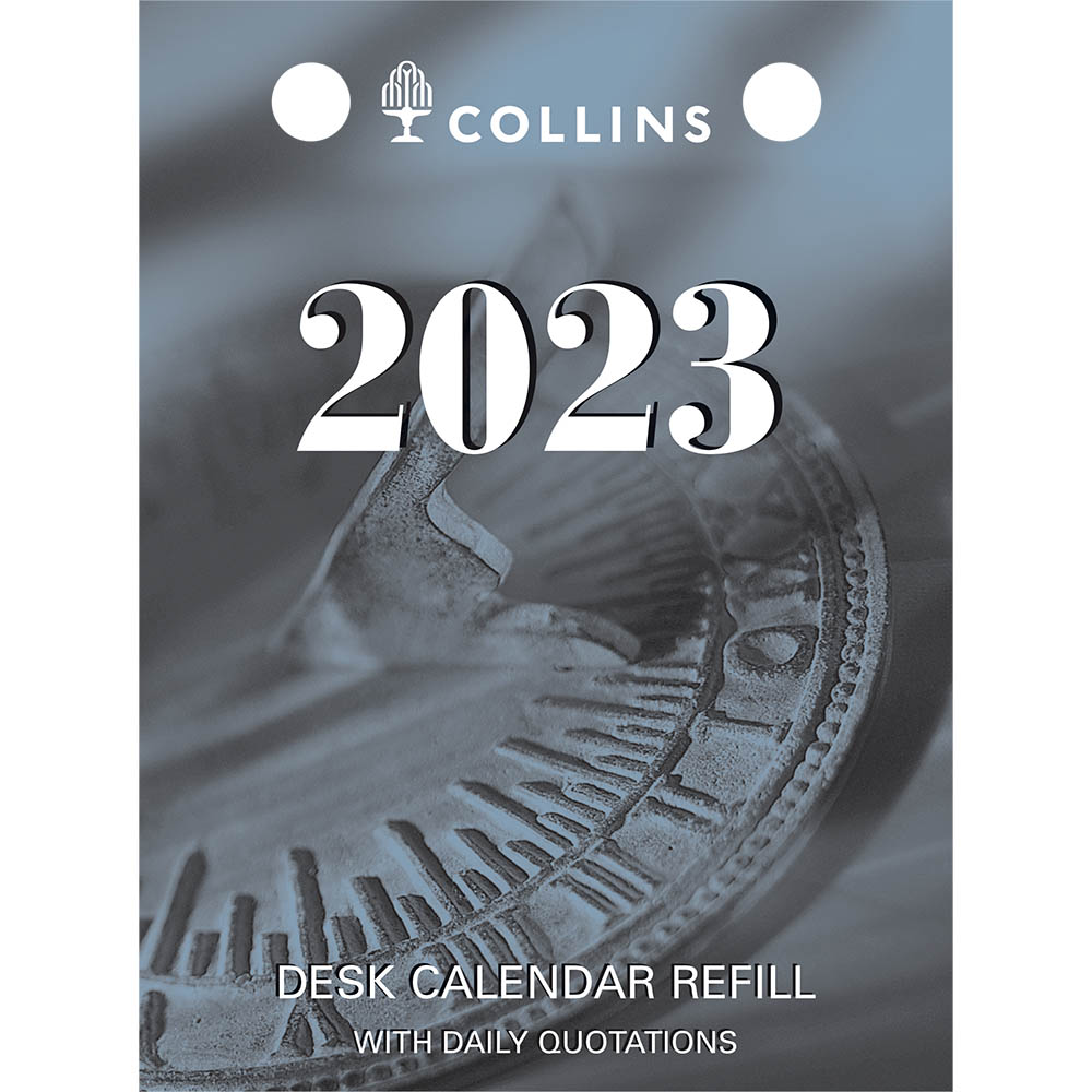 Image for COLLINS 2021 DESK CALENDAR REFILL DAY TO PAGE TOP PUNCH from Paul John Office National
