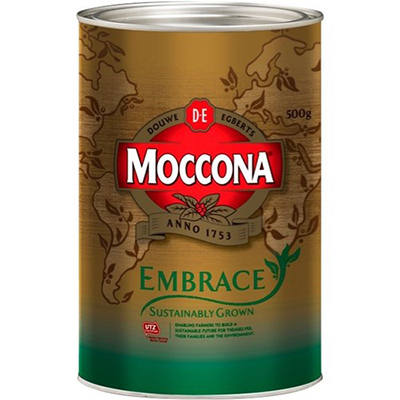 Image for MOCCONA EMBRACE INSTANT COFFEE SUSTAINABLY GROWN 500G CAN from The Paper Bahn Office National