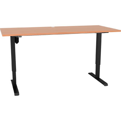 Image for CONSET 501-33 ELECTRIC HEIGHT ADJUSTABLE DESK 1800 X 800MM BEECH/BLACK from Coleman's Office National