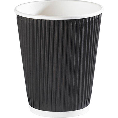 Image for RIPPLE DOUBLE WALL COFFEE CUP 335ML 12OZ BROWN BOX 500 from Holiday Coast Office
