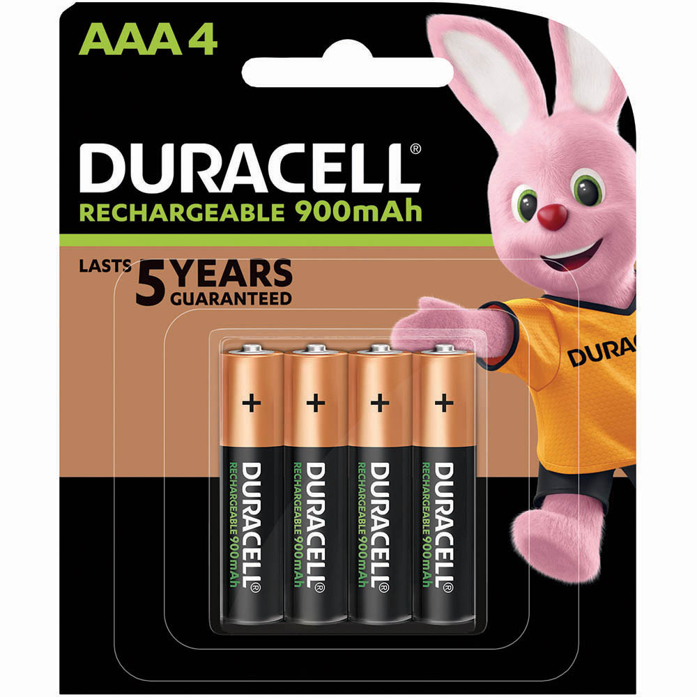 Image for DURACELL RECHARGEABLE AAA BATTERY PACK 4 from Wetherill Park / Smithfield Office National