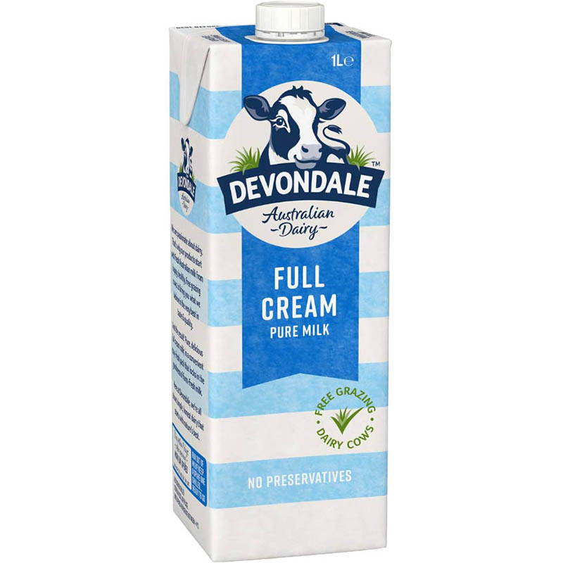 Image for DEVONDALE LONG LIFE FULL CREAM MILK 1 LITRE from Memo Office and Art