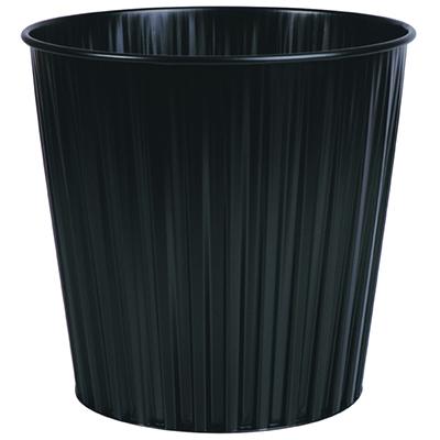 Image for ELEMENTS FLUTELINE METAL WASTE BIN 15 LITRE BLACK from Paul John Office National