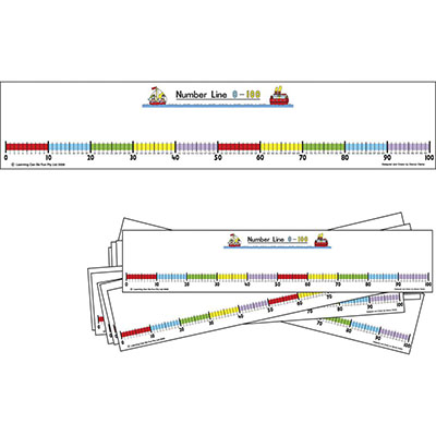 Image for LEARNING CAN BE FUN STUDENT NUMBER LINE 0-100 PACK 10 from Wetherill Park / Smithfield Office National