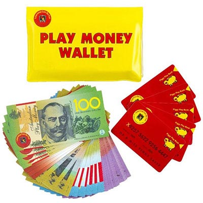 Image for EDUCATIONAL COLOURS PLAY MONEY WALLET from Our Town & Country Office National