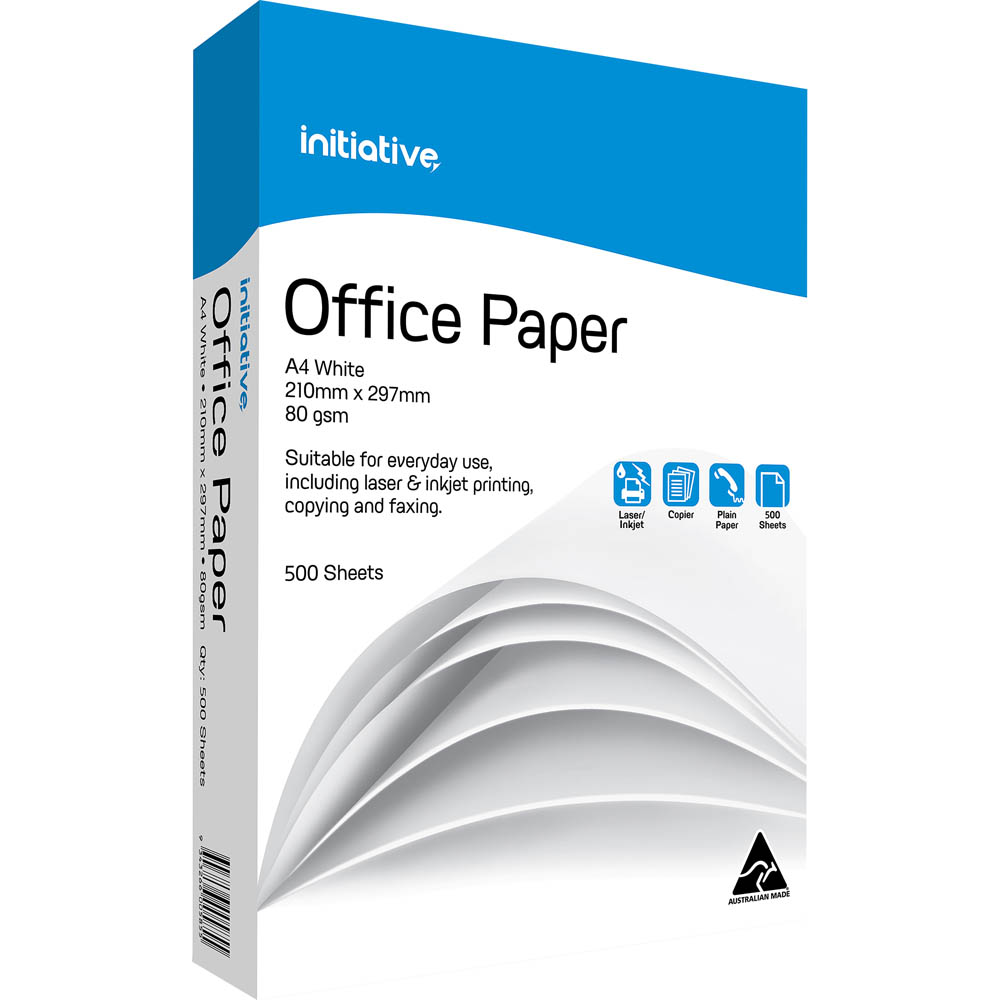 Image for INITIATIVE A4 OFFICE COPY PAPER 80GSM WHITE PACK 500 SHEETS from Aztec Office National Melbourne