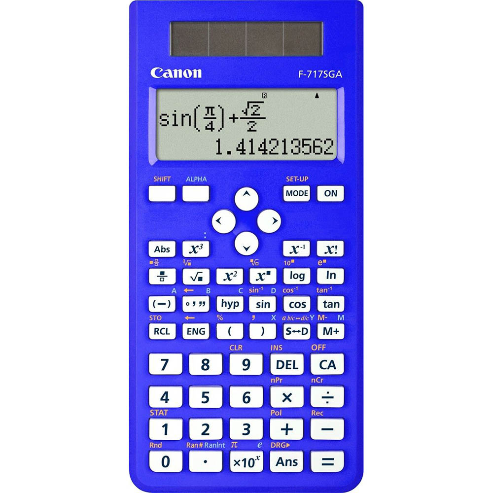 Image for CANON SCIENTIFIC CALCULATOR F717SGA DUAL-WAY DISPLAY 242 FUNCTIONS BLUE from Ezi Office National Tweed