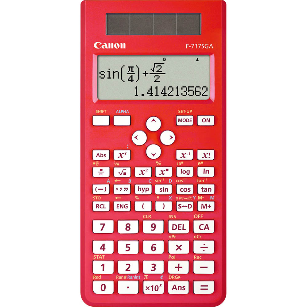 Image for CANON SCIENTIFIC CALCULATOR F717SGA DUAL-WAY DISPLAY 242 FUNCTIONS RED from Ezi Office National Tweed