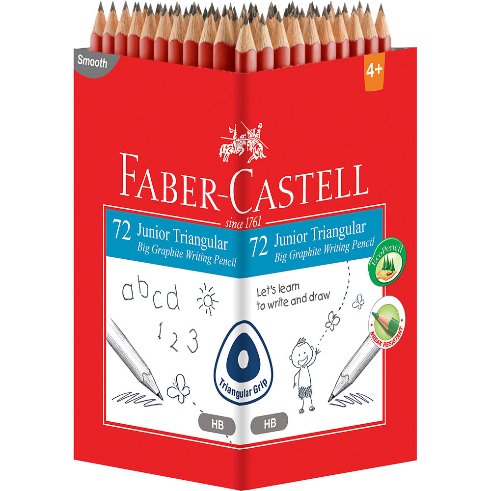 Image for FABER-CASTELL JUMBO GRIP TRIANGULAR GRAPHITE PENCIL HB BOX 72 from Our Town & Country Office National