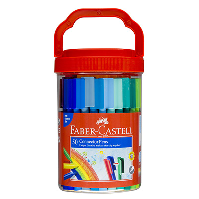 Image for FABER-CASTELL CONNECTOR PENS ASSORTED PACK 50 from Wetherill Park / Smithfield Office National