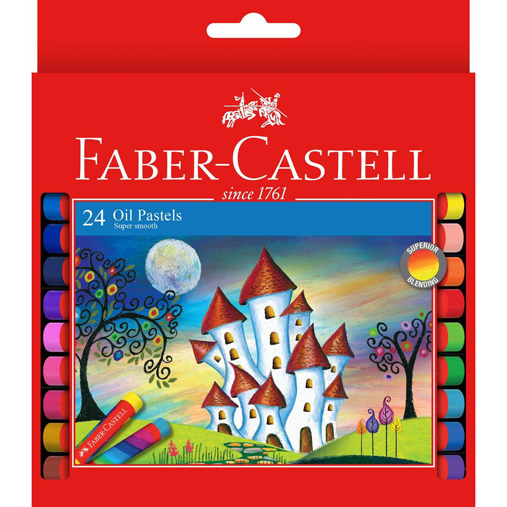 Image for FABER-CASTELL OIL PASTELS ASSORTED PACK 24 from Axsel Office National