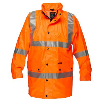 Image for PRIME MOVER MF306 ARGYLE FULL HI VIS RAIN JACKET WITH TAPE from Office National Port Augusta