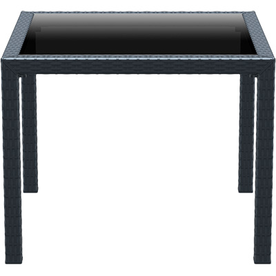 Image for SIESTA BALI TABLE 940 X 940MM ANTHRACITE from Axsel Office National