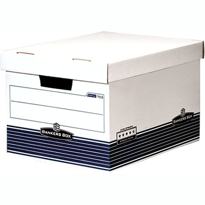 Image for FELLOWES 713 EXTRA STRENGTH BANKERS ARCHIVE BOX HINGED LID from Mackay Business Machines (MBM)